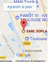 plan d'accès google maps Sopla